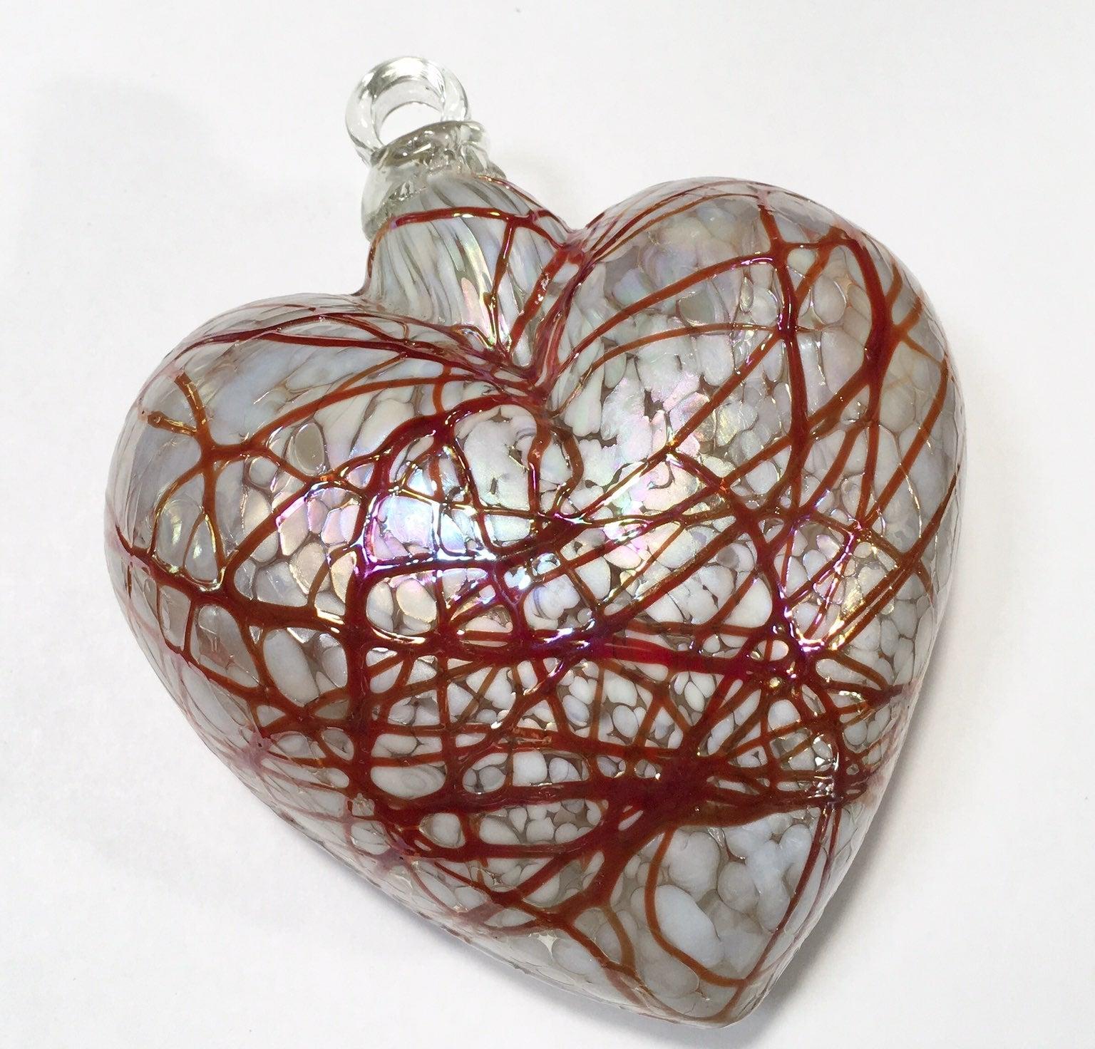 """handmade Puffed heart glass Ornament 5"""""""