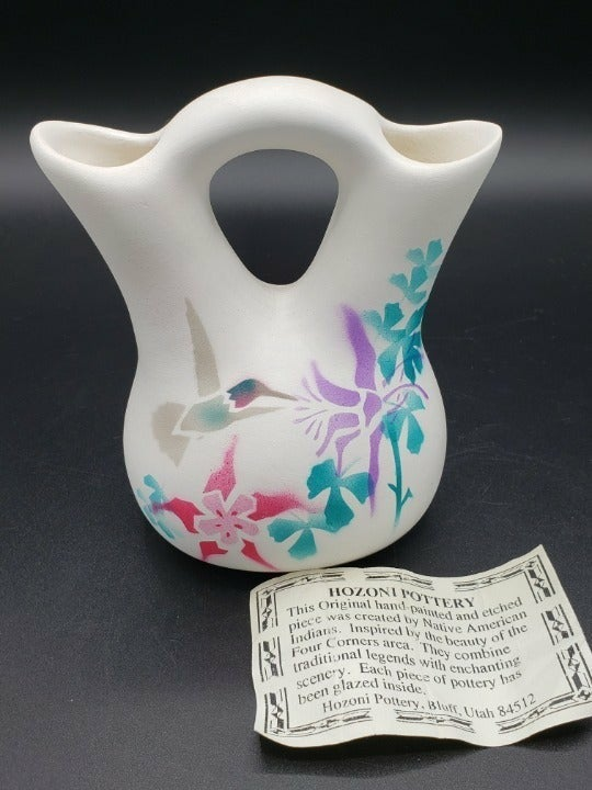 Hozoni Pottery Handpainted Wedding Vase
