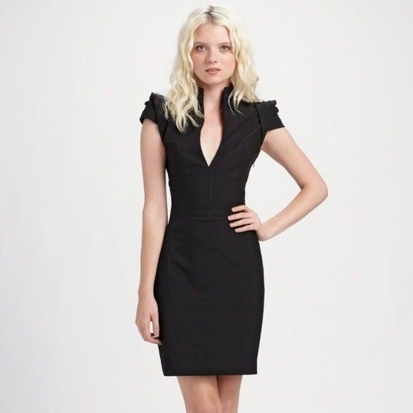 Black Halo Hanna Black Midi Dress 2