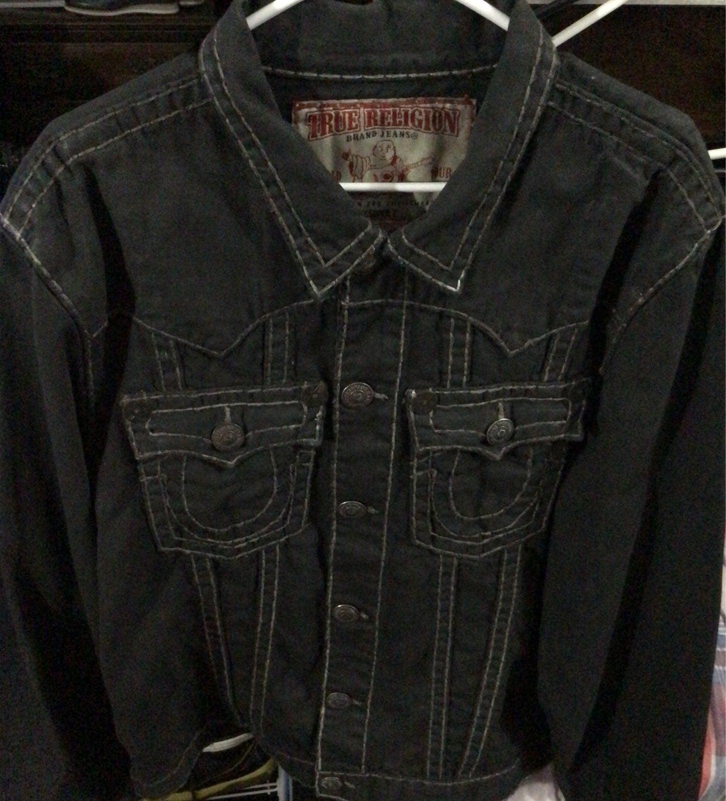 True Religion Wax Jean Jacket XXXL