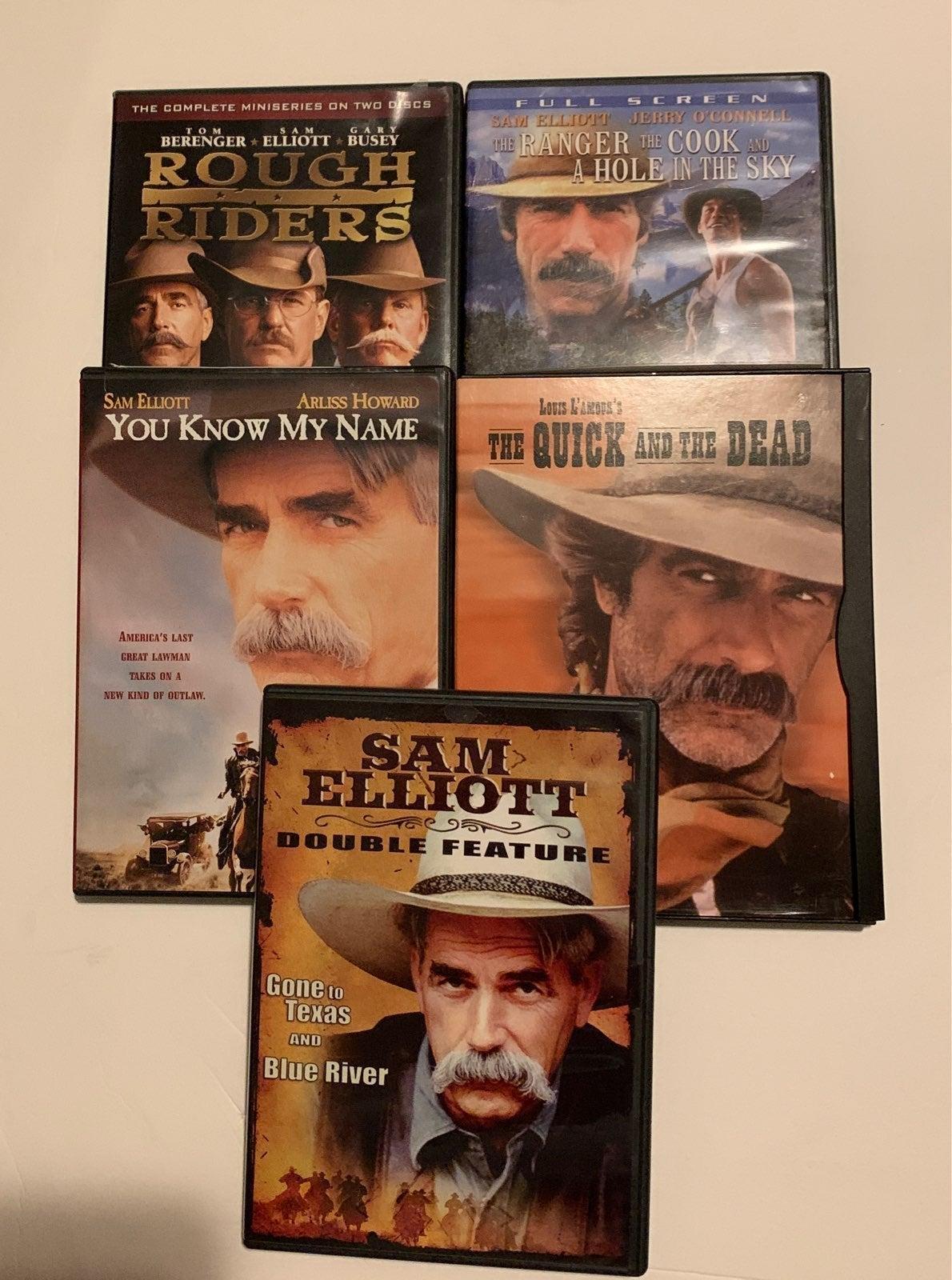 Sam Elliott Collection 5 DVDs