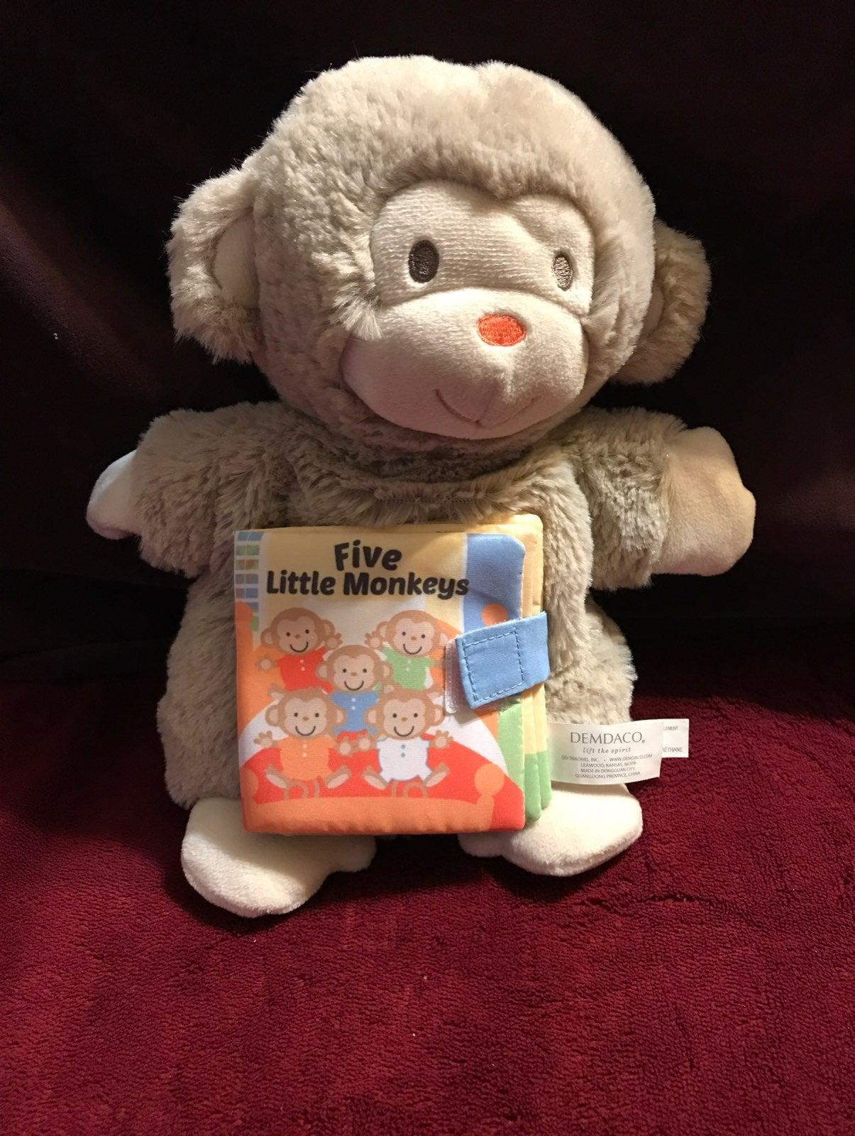 Pink Piggy Hand Puppet Story Book Plush