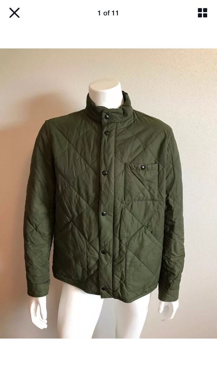 J.Crew Men's Sussex Quilted Jacket Fiel