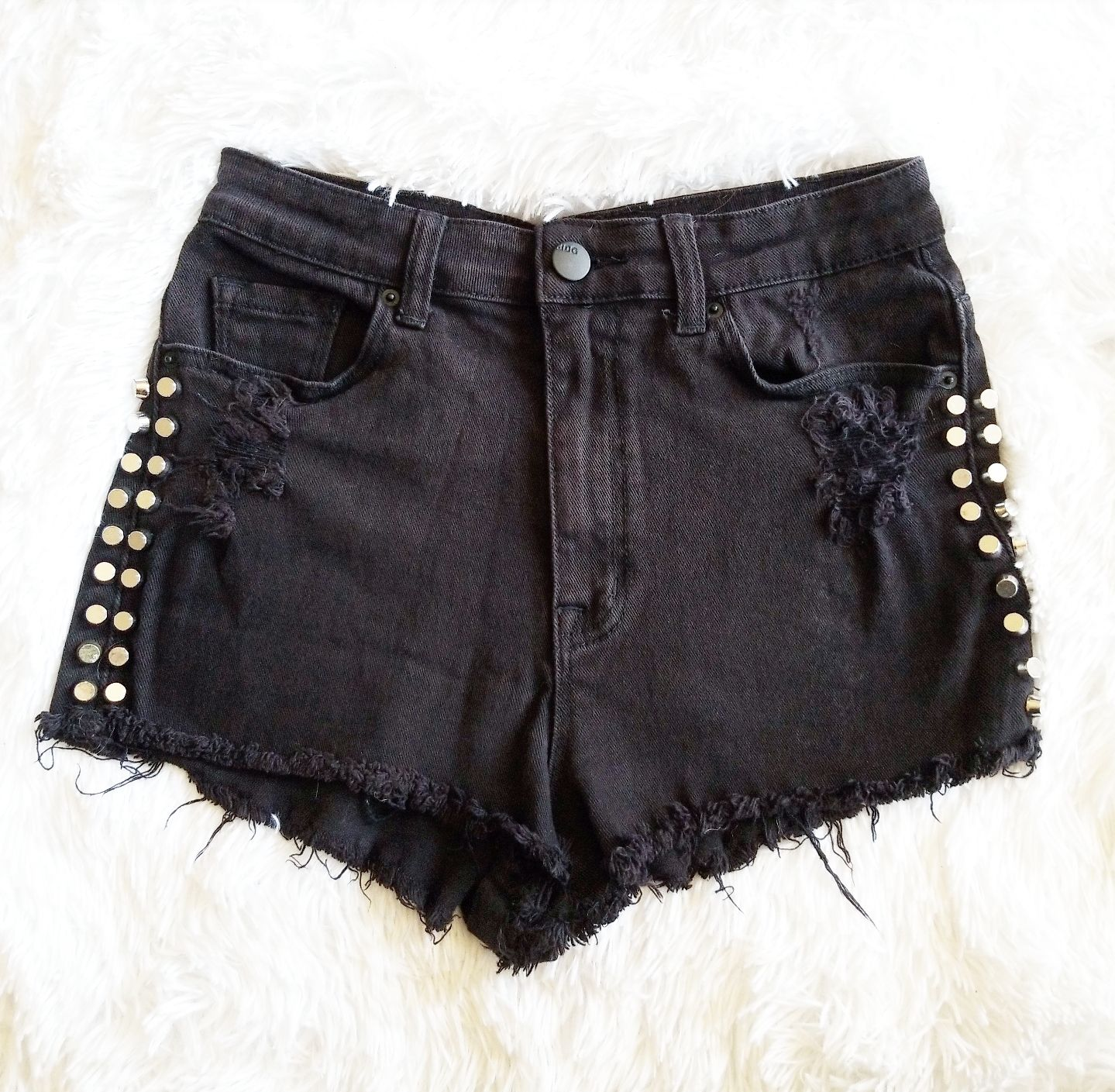 BDG UO High Rise Cheeky Stud Shorts