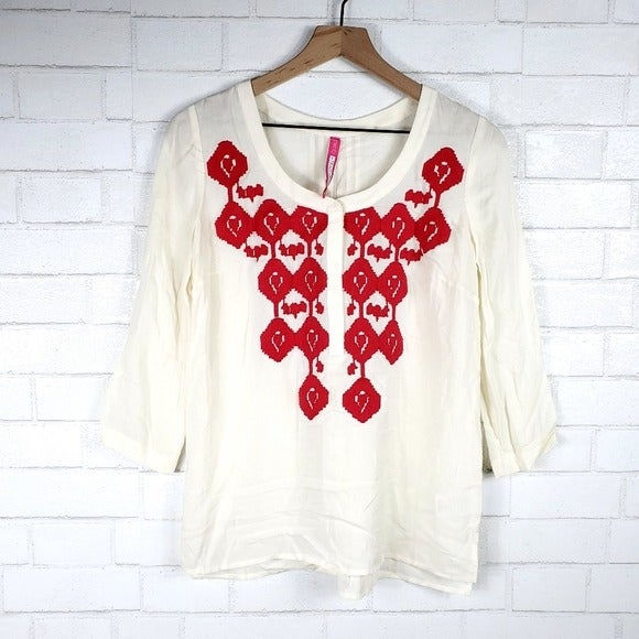 Plenty by Tracy Reese embroidered top SP