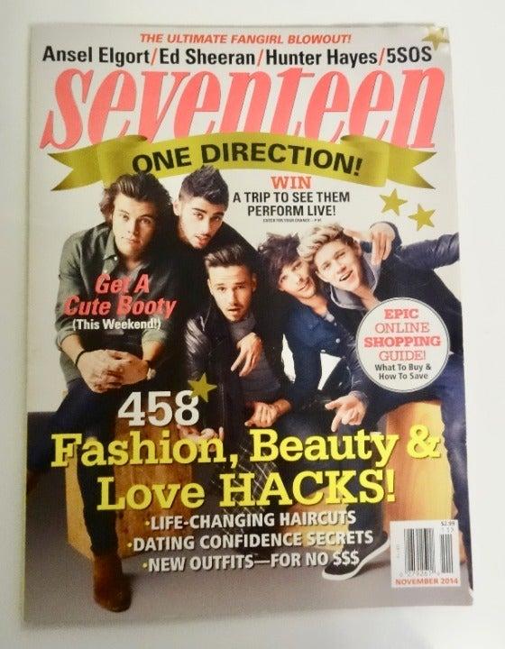 Seventeen Magazine One Direction 2014