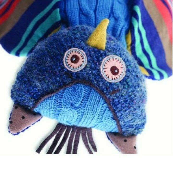 Quilt patch Owl Plush Nat & Jules-Oliver