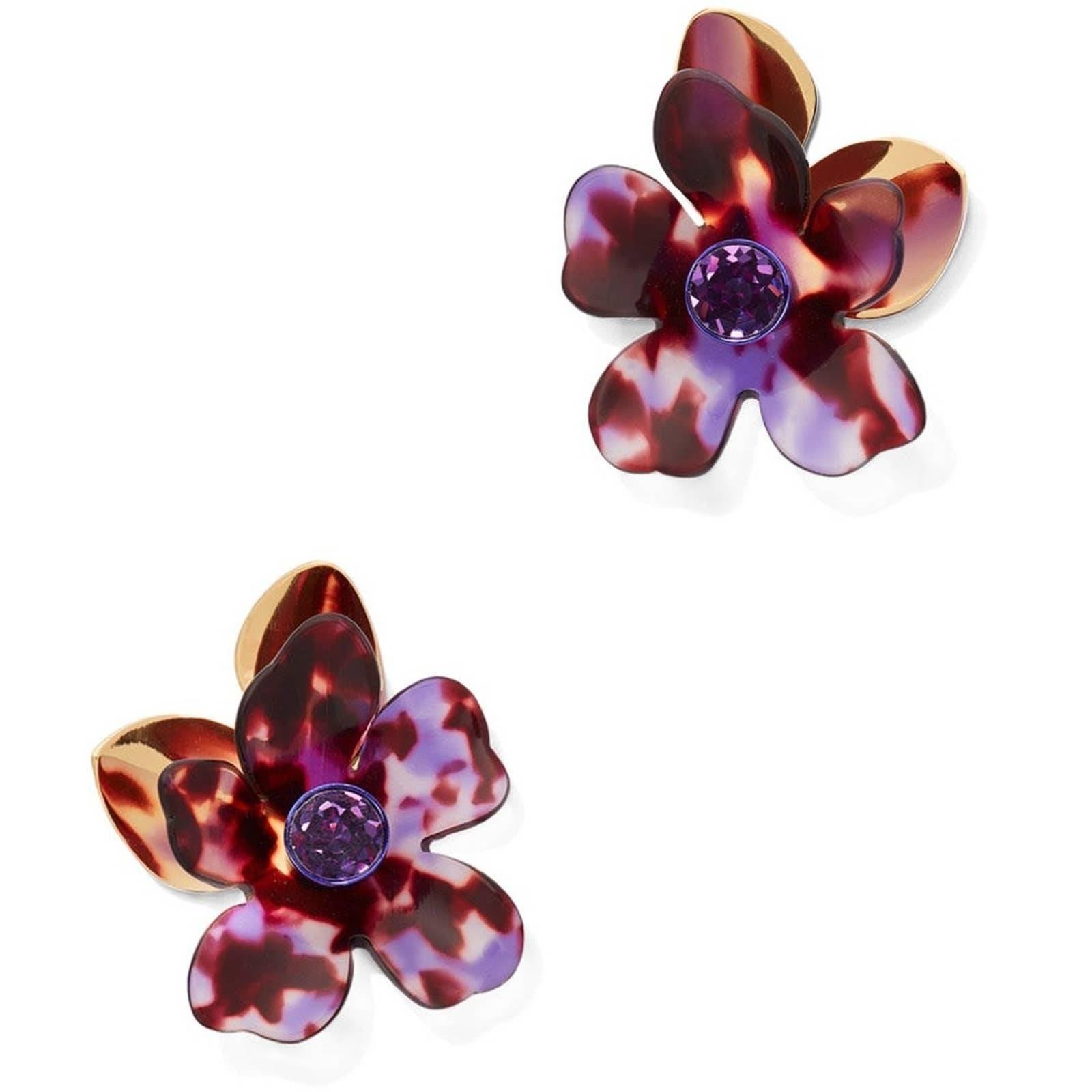 kate spade  Purple Petal  Earrings