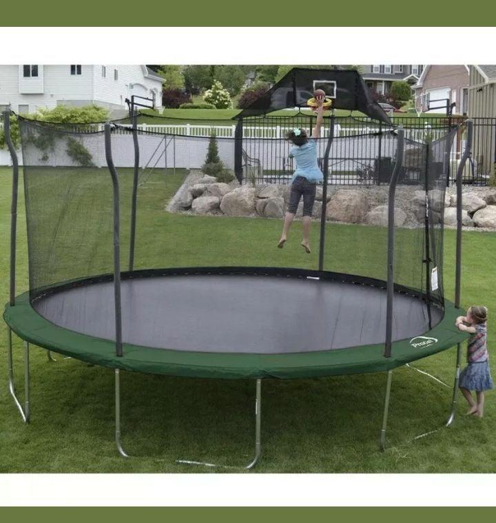 Propel 15' Trampoline w/Enclosure & more