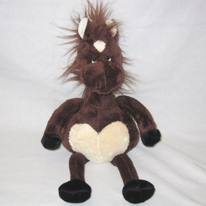Russ Horse Dark Brown Plush Stuffed Toy