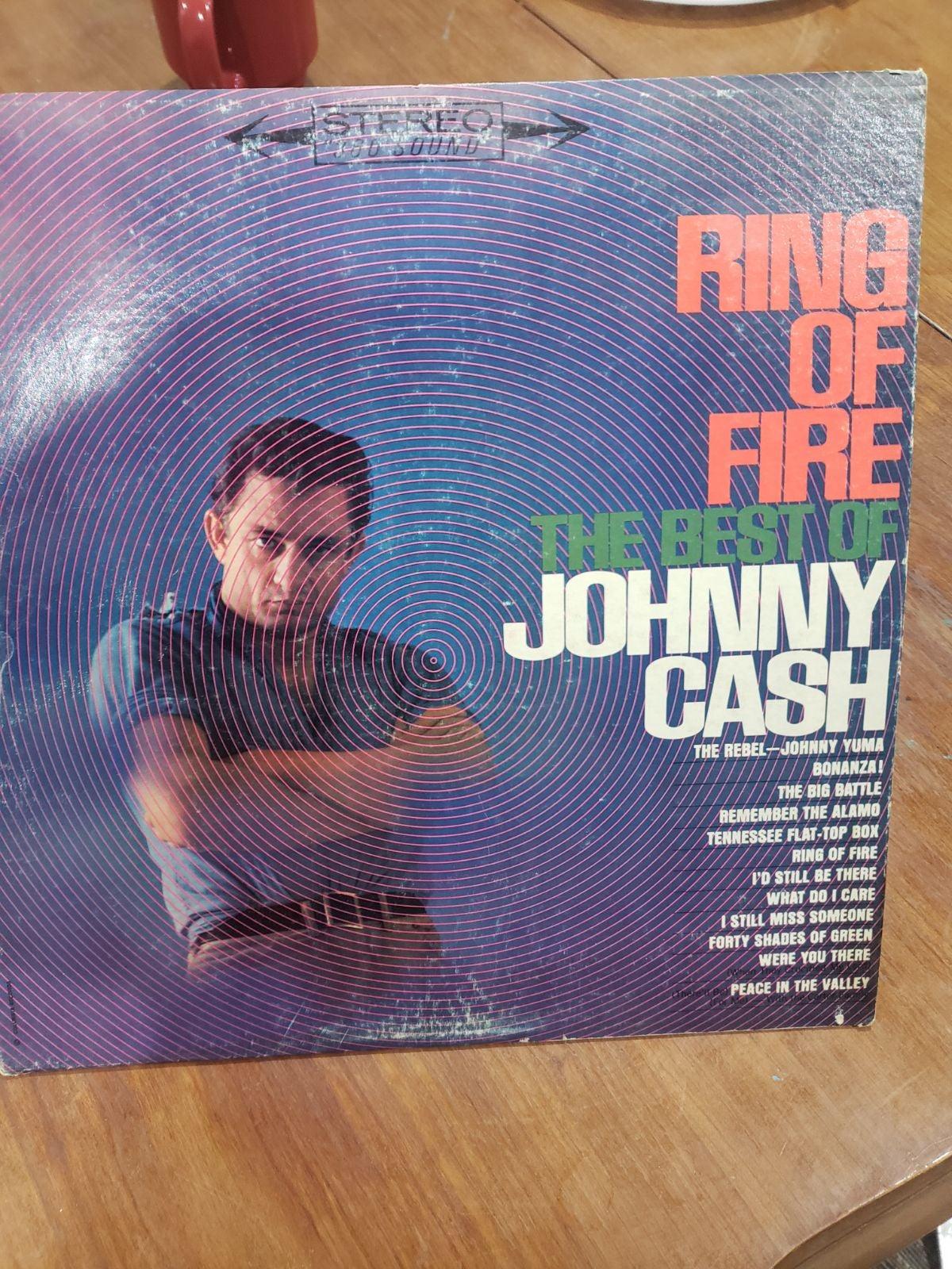 Johnny Cash Ring of fire vinyl record