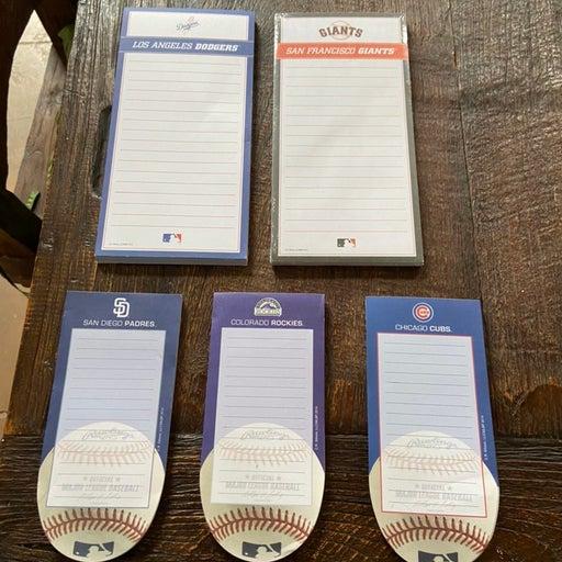 Bundle of 5 MLB Memo Pads