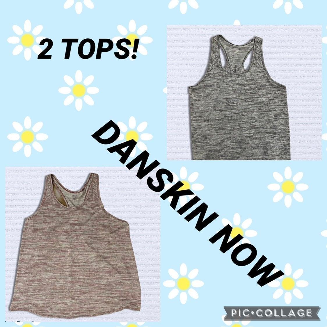 2 Danskin Now tank tops XL Red, Gray