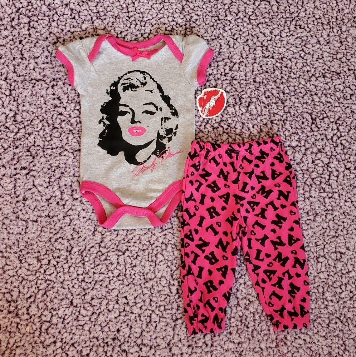 Baby Girl 3-6 Month Marilyn Monroe Set