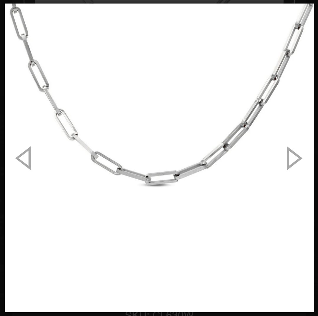 Paperclip large link silver choker