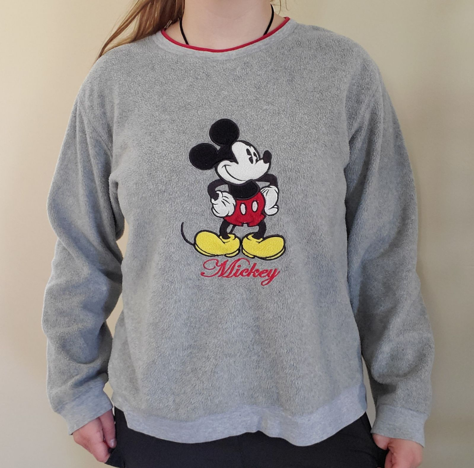 VTG y2k Embroidered Mickey Pullover