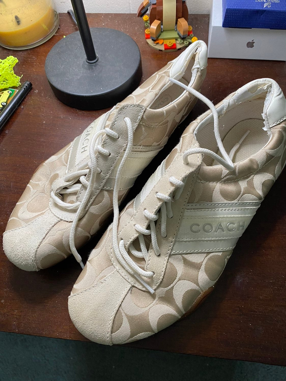 White Coach Fashion Sneakers