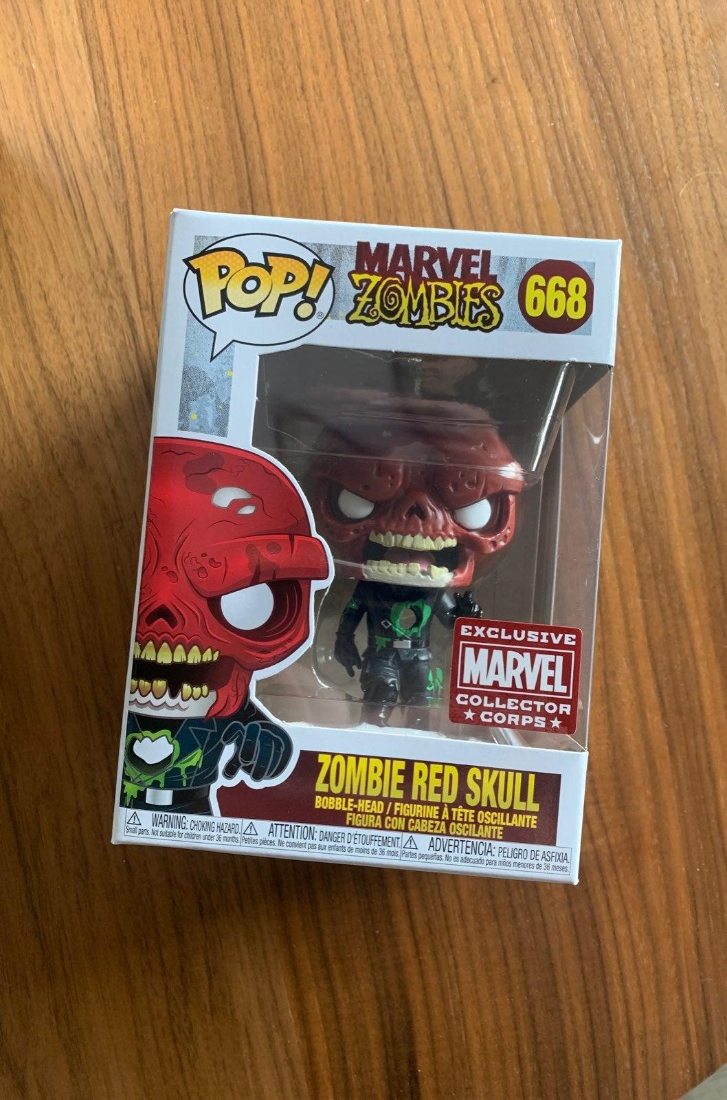 Funko Pop Marvel #668 Zombie Red Skull