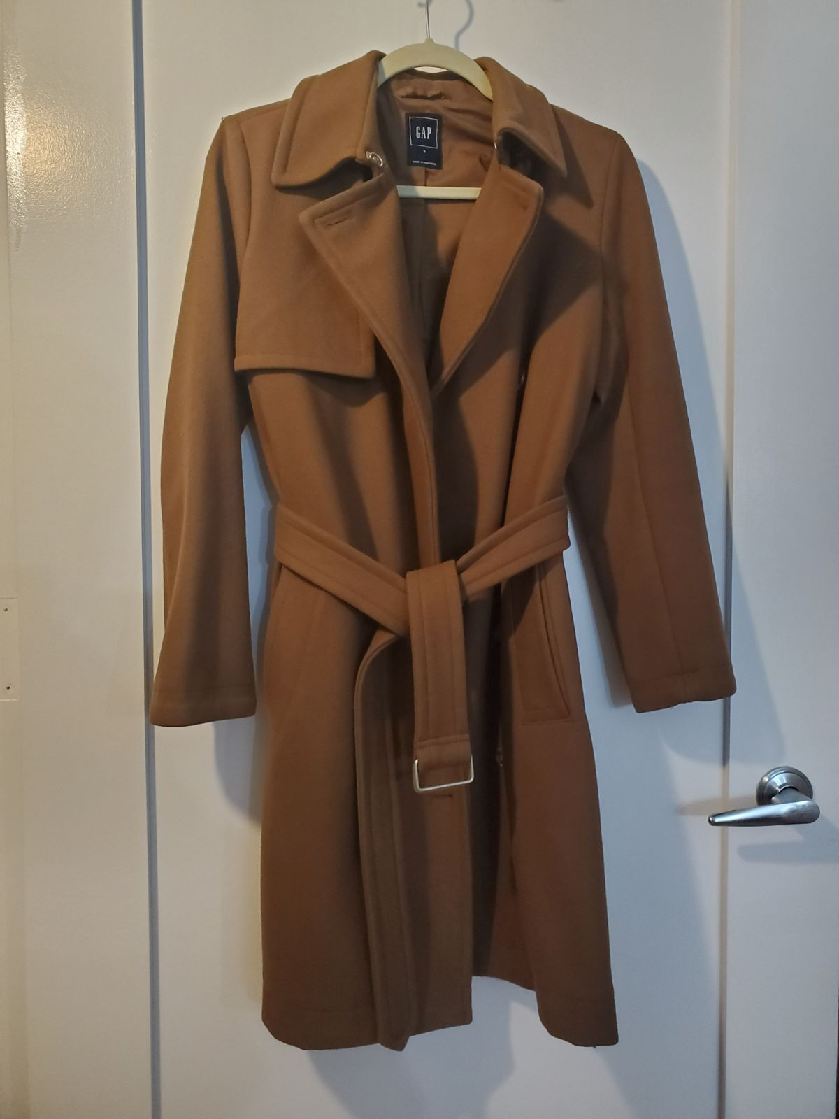 Gap Carmel Belted Trench Wool Coat by Gap