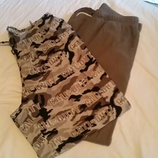 2- pajama bottoms or  Lounge bottoms