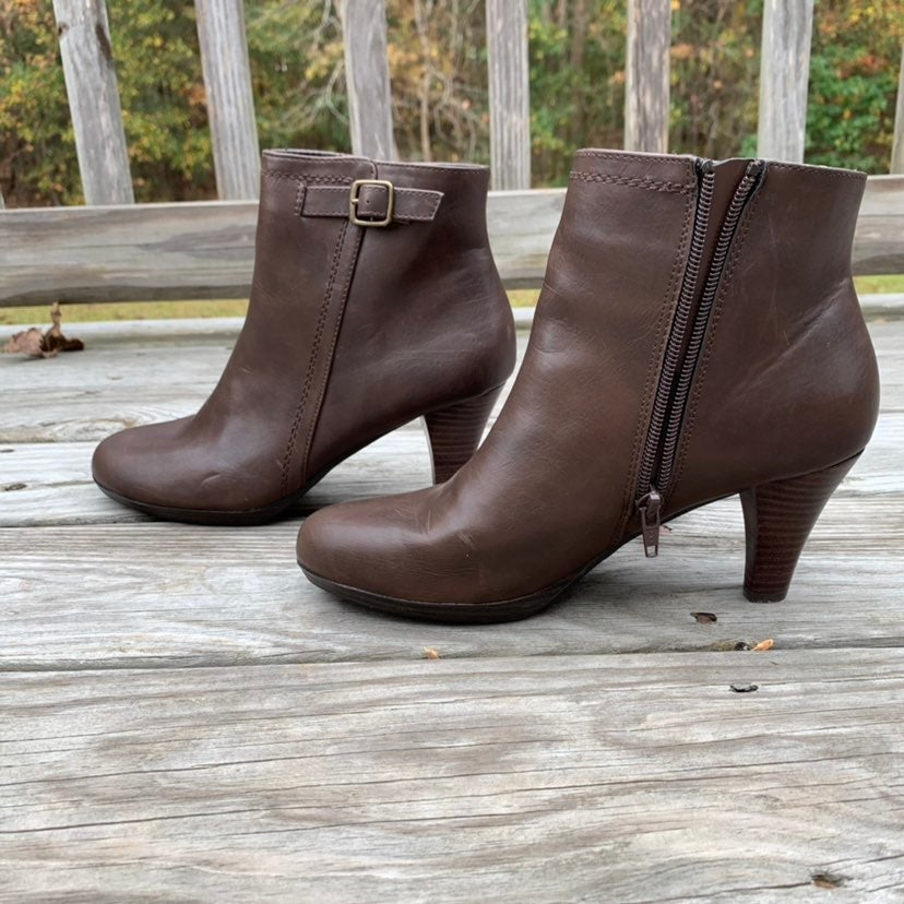 GH Bass Allure leather ankle boots brown