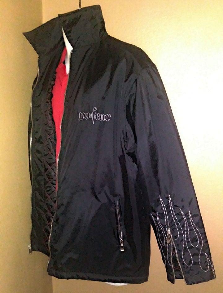 Men's Medium Embroidered Flame Coat