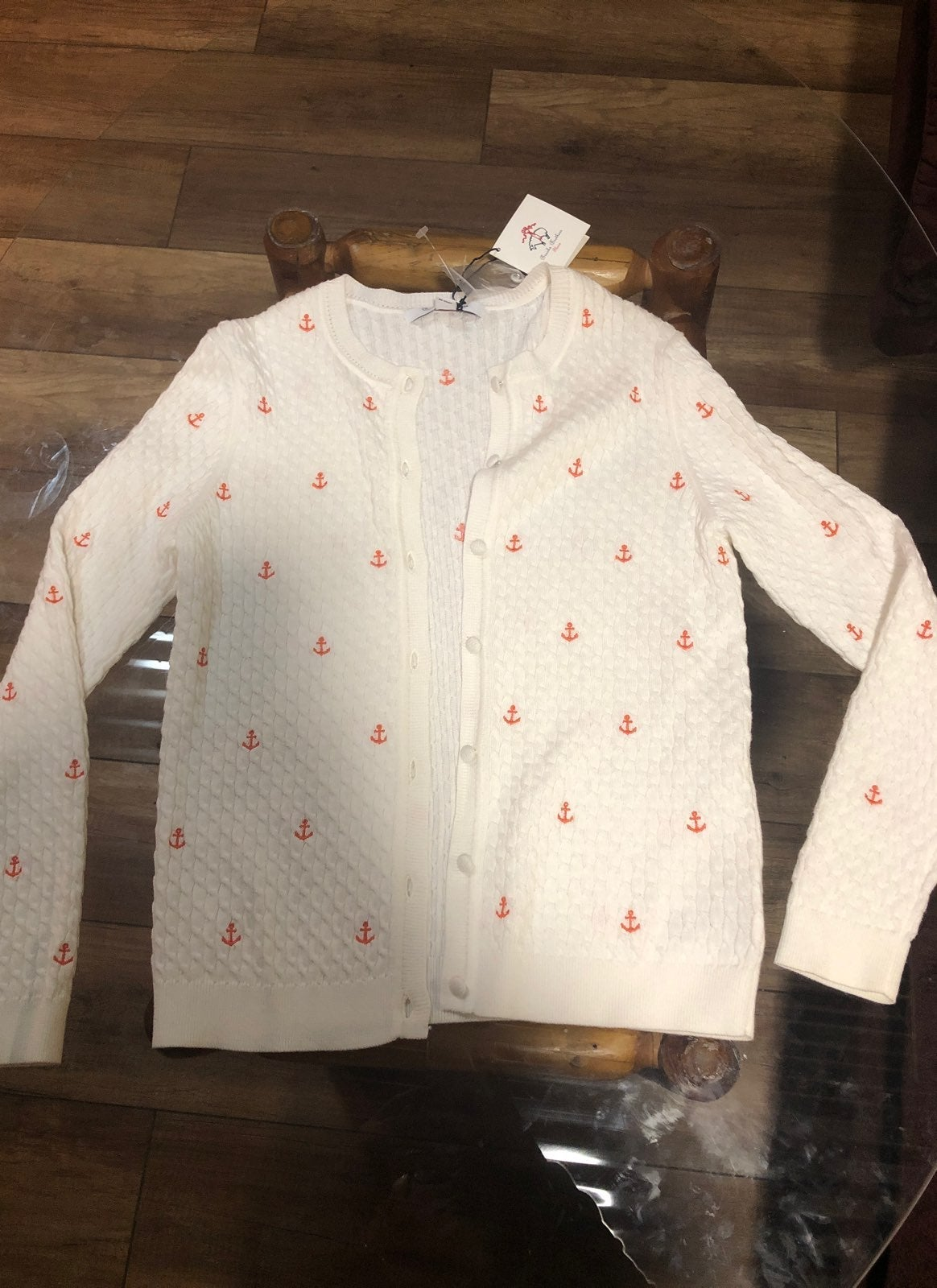 NWT YL Girls Buttoned up Sweater