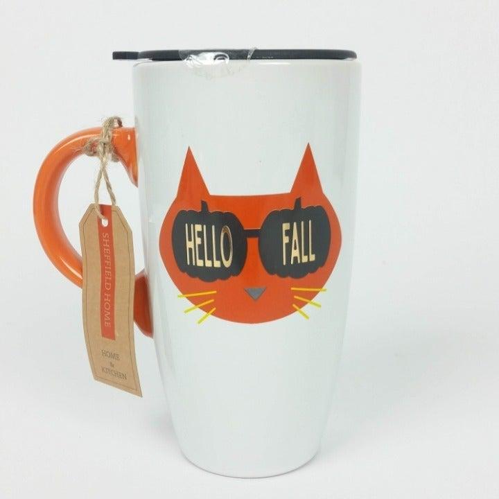 Pumpkin Spice Cat Fall Travel Mug