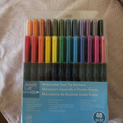 Water color dual tip markers