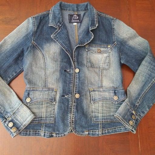 Women's Denim Jean Jacket Size L