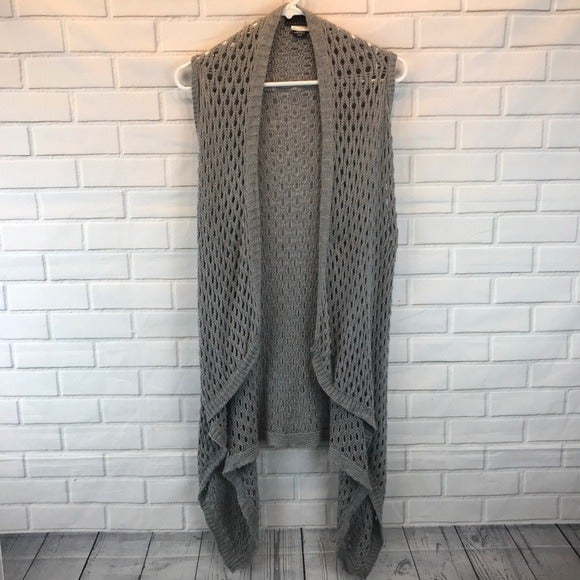 Apostrophe Gray Sleeveless Cardigan, XS