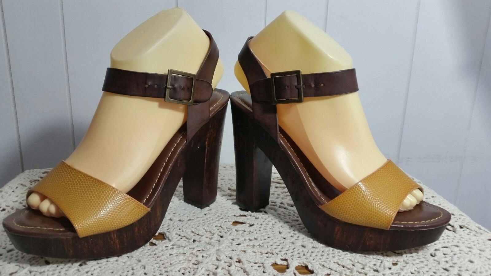Bamboo Heel Sandal Used Size 8.5