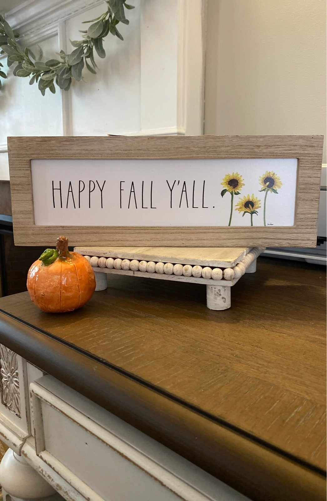 Rae Dunn HAPPY FALL Y'All Wooden Sign