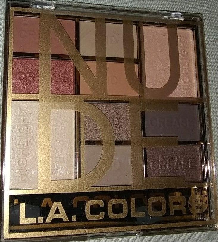 LA Colors 10 Shade Eyeshadow Palette Nud