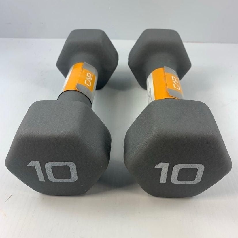 CAP Hex 10 lbs x 2 Dumbell Set Neoprene