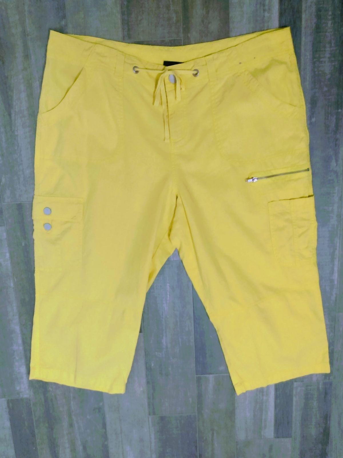 NWT Lane Bryant Linen Capri Cargo Pants