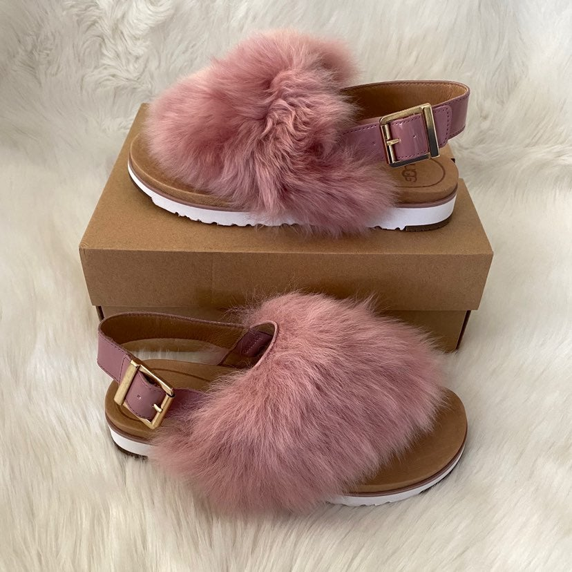 New UGG Holly Sheepskin Leather Sandals