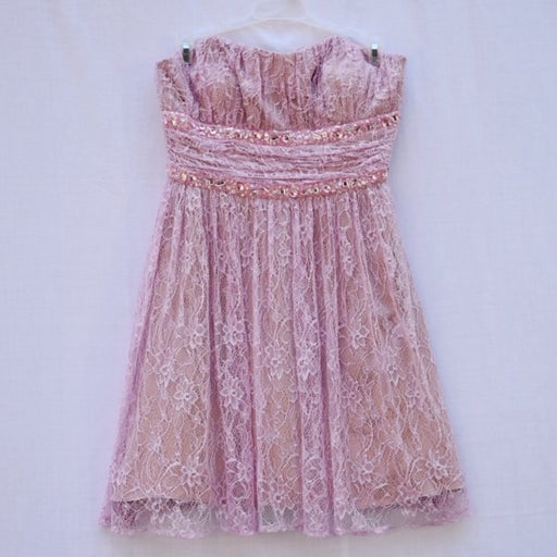Morgan & Co. Strapless Lace Dress