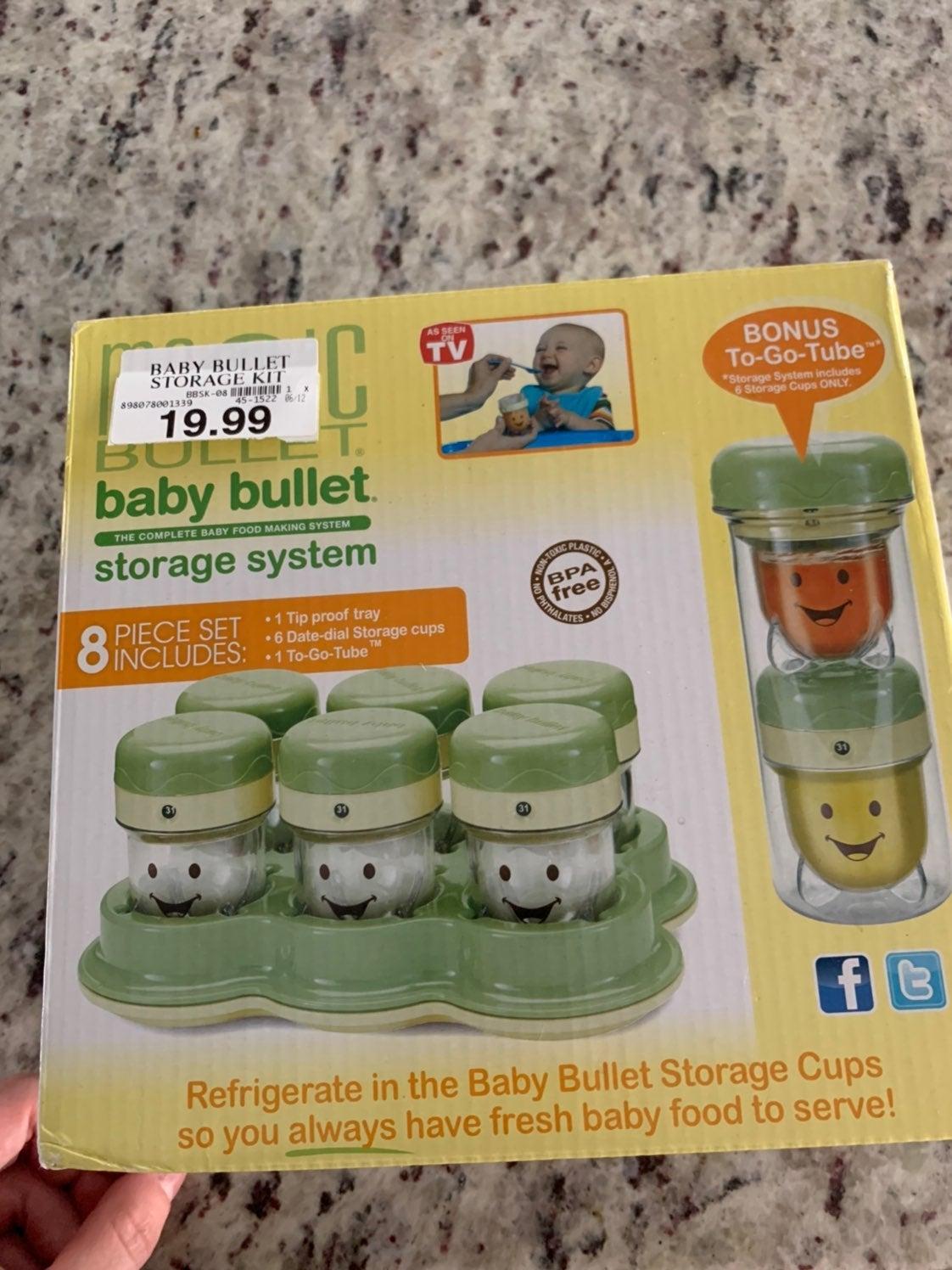 NEW Baby Bullet Storage System