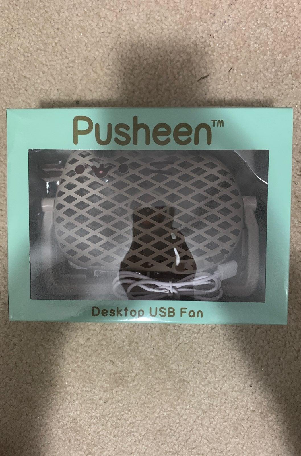 Pusheen desktop USB fan