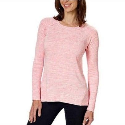 Champion Light Marled Pink Hi Lo Sweater