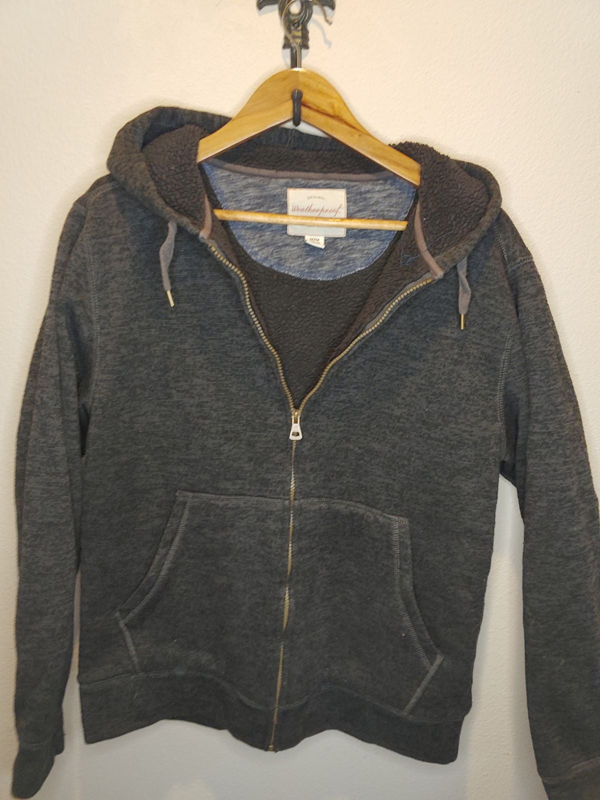 Weatherproof fleece men's hoodie jacket