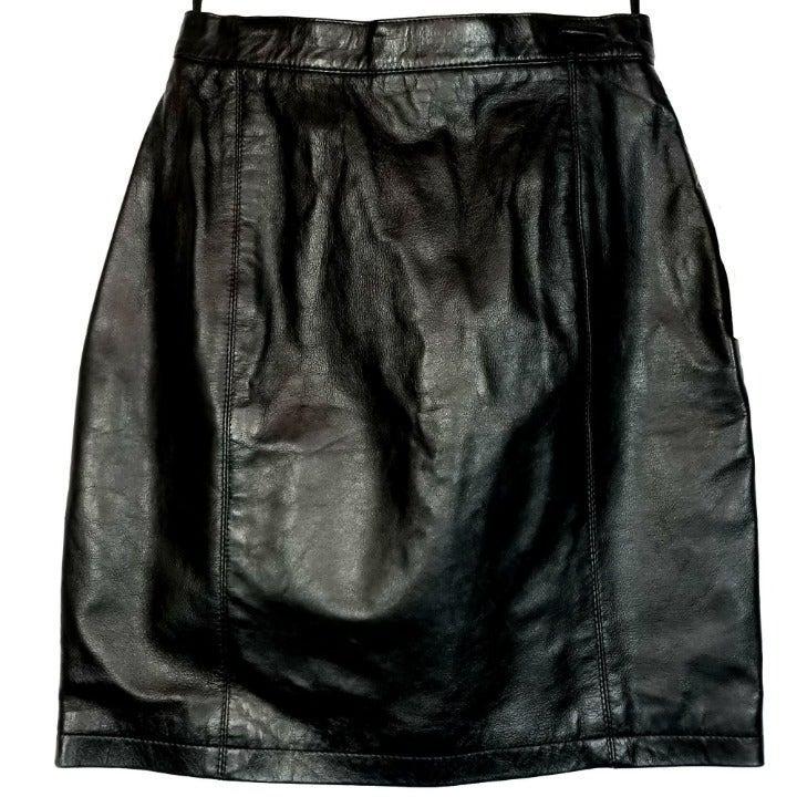WILSONS Leather Tight Short Mini Skirt B