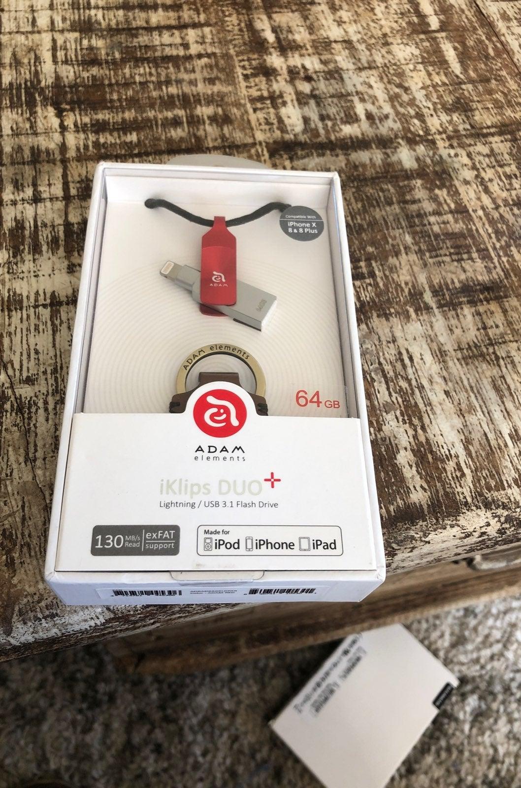 iKlips DUO+ 64G Red-Apple iPhone Lightni