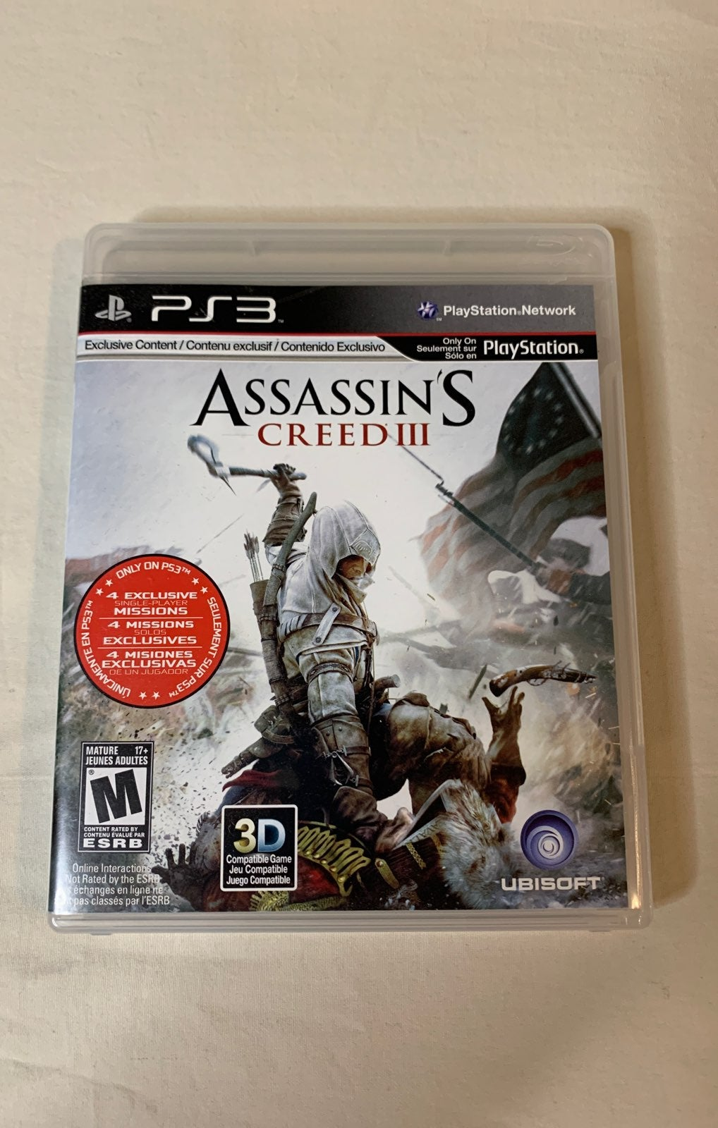 PS3 Assassin's Creed III Game