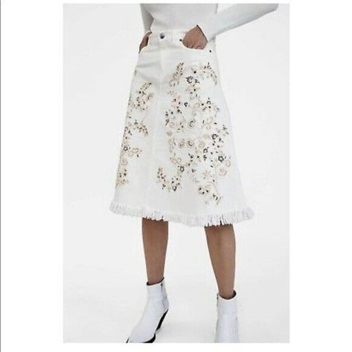 Zara Woman The Western Embroidered Skirt