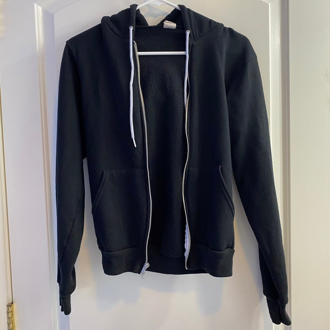 American Apparel Black Zip Up Jacket