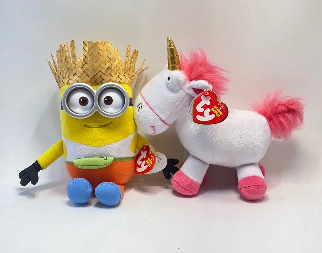 Despicable Me Dave and Fluffy plush set