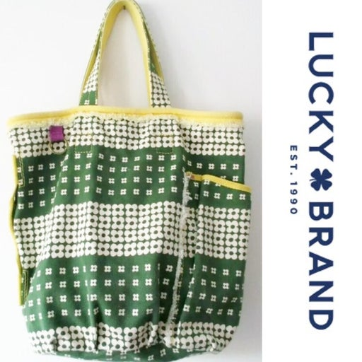 Lucky Brand Canvas Tote Bag. Beach Tote