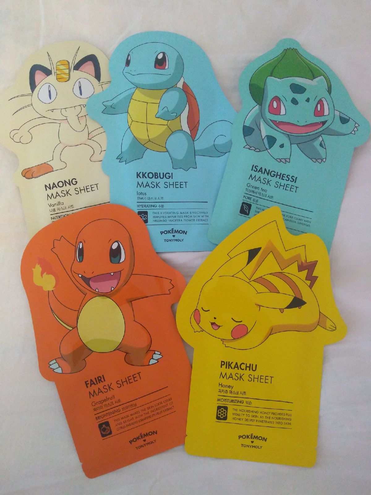 Tonymoly Pokemon Sheet Mask Set